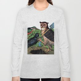 Vintage Owl with Shovel Long Sleeve T-shirt