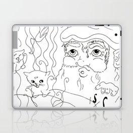 Birth of the Cat - Black & White Laptop & iPad Skin