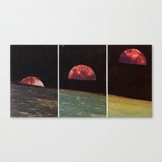 Three Views From The Same Moon Canvas Print