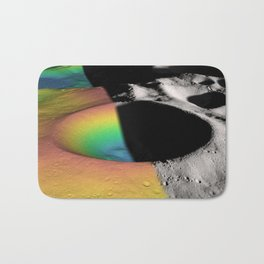 Rainbow Moon Craters Bath Mat