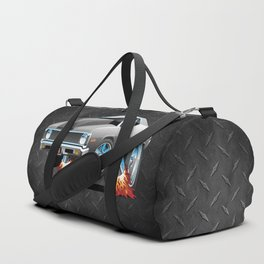 Classic American Muscle Car Hot Rod Cartoon Duffle Bag