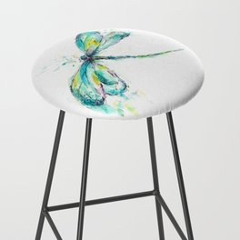 Watercolor Dragonfly Bar Stool