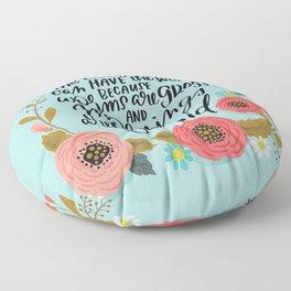 The Early Bird Floor Pillow