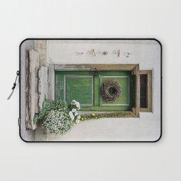 Rustic Wooden Village Door - Austria Laptop Sleeve