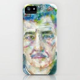 FRANZ KLINE - watercolor portrait iPhone Case
