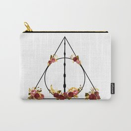 Deathly Hallows in Red and Gold Carry-All Pouch