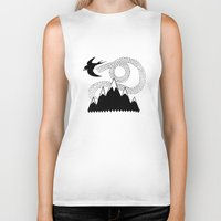 swallow Biker Tanks featuring Mountain Swallow by Satok