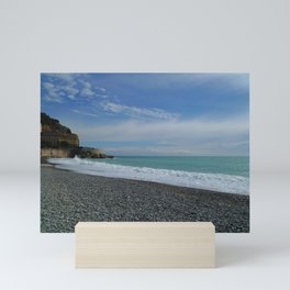 Nice, France: Castel Beach Mini Art Print