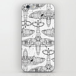 Spitfire Mk. XIV (black) iPhone Skin