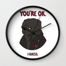 Mean Puggin' Wall Clock