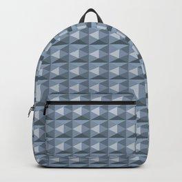 Pale blue diamond cubes Backpack