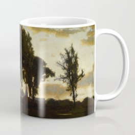 George Inness - Landscape, Sunset Coffee Mug
