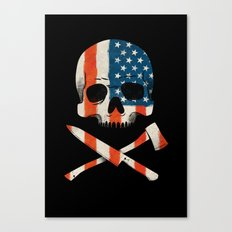 American P$yscho Canvas Print