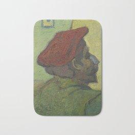 Paul Gauguin (Man in a Red Beret) Bath Mat