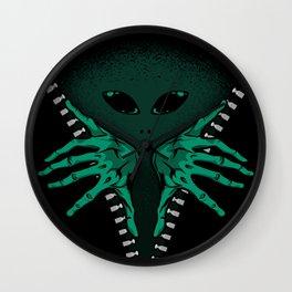 Alien inside Wall Clock
