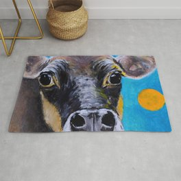 Moon: The Eyes of a Jersey Cow Rug