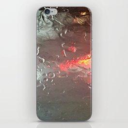 Raindrops on my windshield iPhone Skin