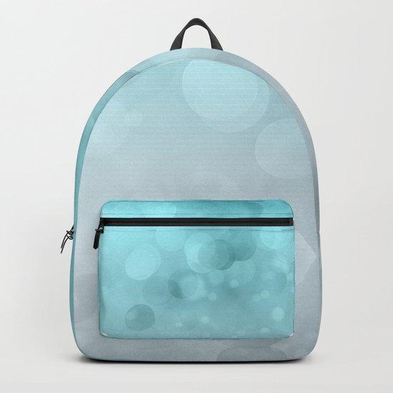 Aqua Turquoise Grey Soft Gradient Bokeh Lights Backpack