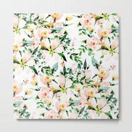 Flowered Metal Print