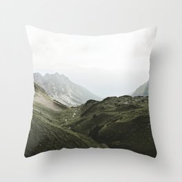 Beam Landscape Photography Throw Pillow