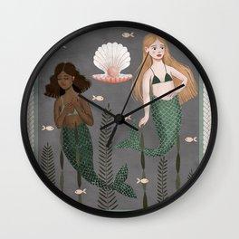 mermaid tapestry Wall Clock