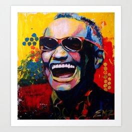 Portrait of Ray Charles Art Print