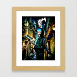 Shinjuku Mona Lisa Framed Art Print
