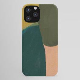 The Colliding Of Two Greens iPhone Case