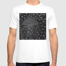 Jelly Fish MEDIUM White Mens Fitted Tee