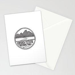 Grand Teton National Park Illustration Stationery Cards