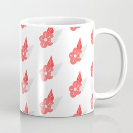 Floral Fancy Pink and Grey Blossoms Coffee Mug