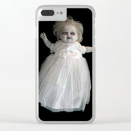 Zombie Doll. Clear iPhone Case