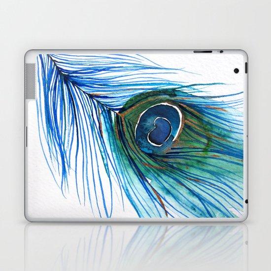 Peacock Feather I Laptop & iPad Skin