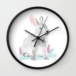 Cute little rabbit Wall Clock