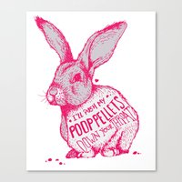 poop Canvas Prints featuring Poop Rabbit by Nat Osorio