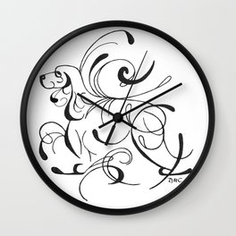 Abstract EC standing Wall Clock