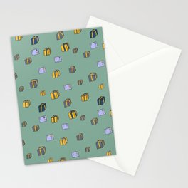 Boxes and letters postman pattern Stationery Cards