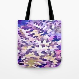 Foliage Abstract Camouflage In Pale Purple and Violet Pastels Tote Bag