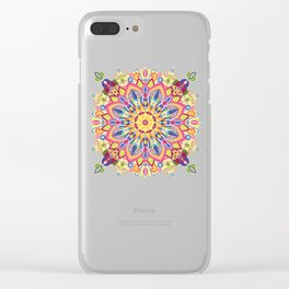 Spring Flower Mandala Clear iPhone Case