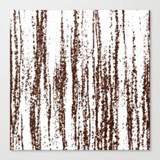 Birch Winter Sepia Canvas Print