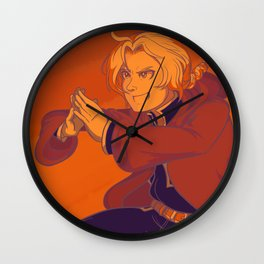 Edward Elric - Limited Color Palette Wall Clock