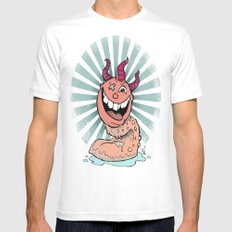 Tongue Creature MEDIUM Mens Fitted Tee White