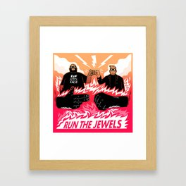 Run Them Jewels Fast Framed Art Print