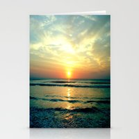 sunrise Stationery Cards featuring Sunrise by THEORY