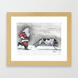 Come and Get It Santa! Framed Art Print