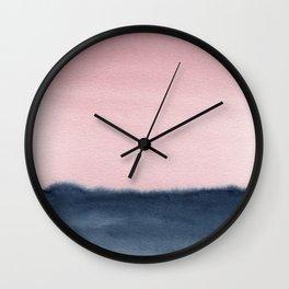 Pink Indigo Abstract No. 2 Wall Clock