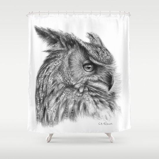 Eagle Owl G085 Shower Curtain