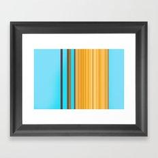 Sablo Lio Blue Yellow Framed Art Print