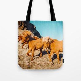Wild Shaggy Ponies Tote Bag