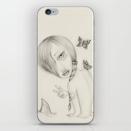 Shark Girl iPhone Skin